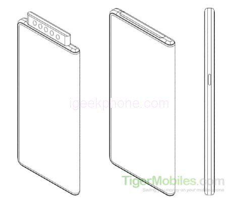 Xiaomi запатентовала выдвижную селфи-камеру с 5 модулями