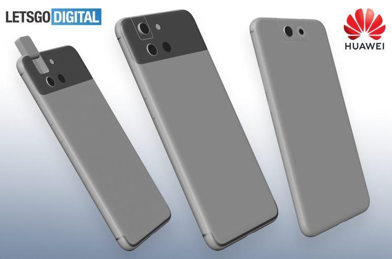 Huawei запатентовала новые варианты выдвижных селфи-камер