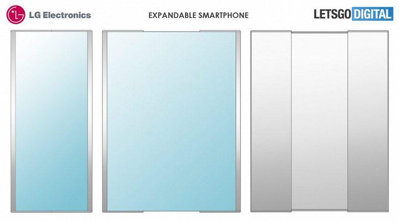 LG запатентовал необычный смартфон с раздвижным дисплеем