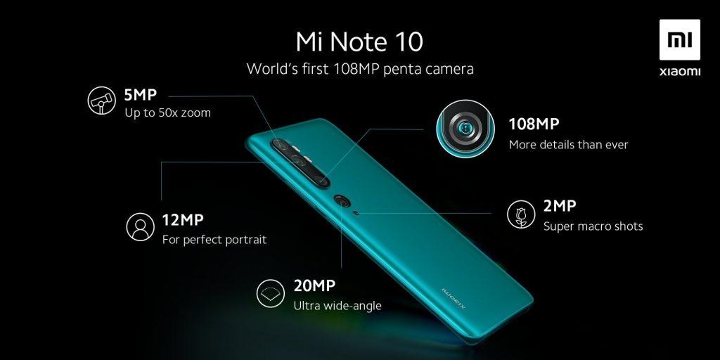 Раскрыты полные характеристики камеры в Xiaomi Mi Note 10