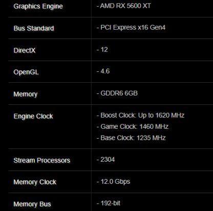 В Сети опубликовали параметры видеокарты Radeon RX 5600 XT