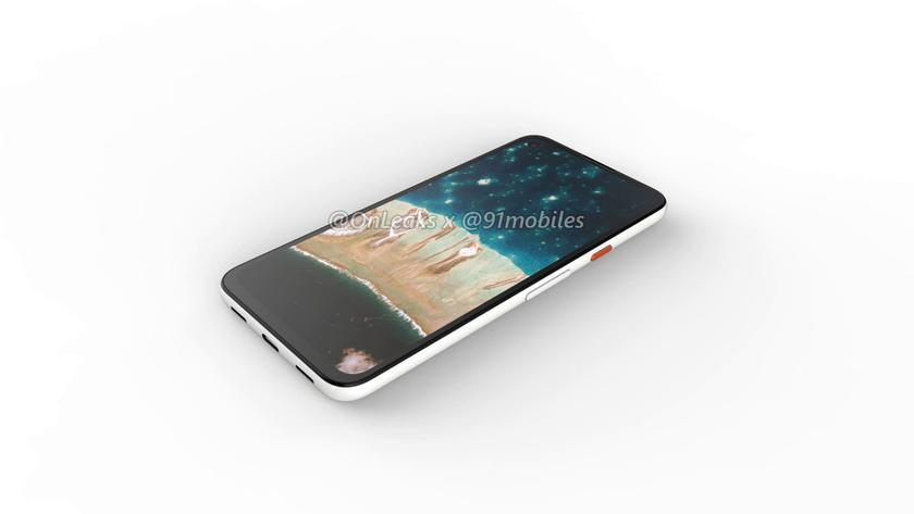 В Сети появились первые рендеры смартфона Google Pixel 4a