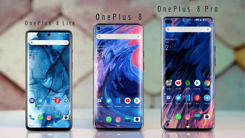 Раскрыты характеристики и внешность OnePlus 8 Lite, OnePlus 8 и 8 Pro