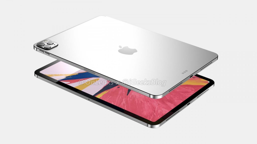iPad Pro 2020 года показали на качественных рендерах