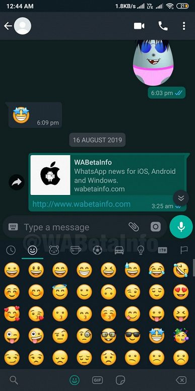 В приложение WhatsApp добавили «тёмную тему»