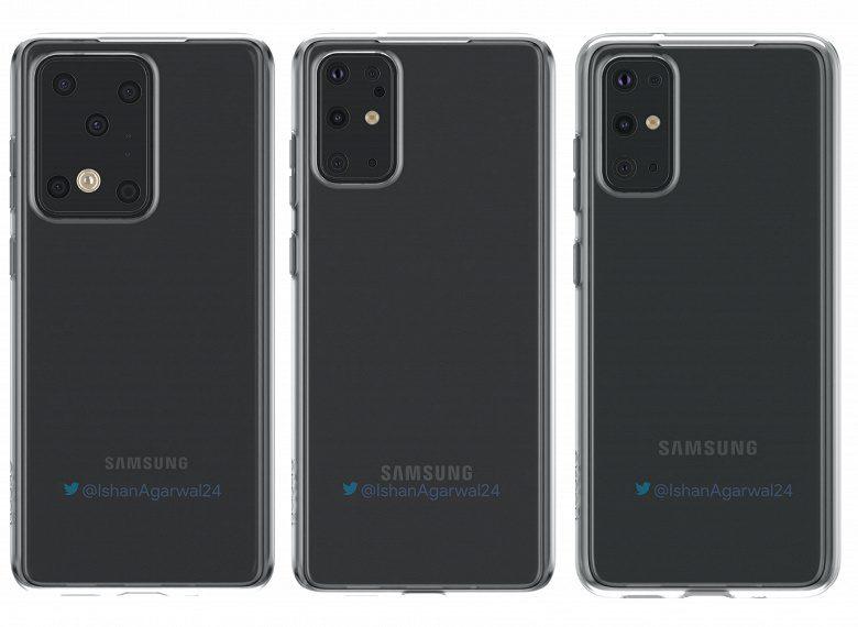 В Сети показали рендеры смартфонов линейки Samsung Galaxy S20