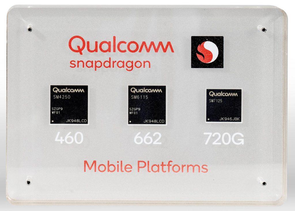 Компания Qualcomm представила чипсеты Snapdragon 720G, 662 и 460