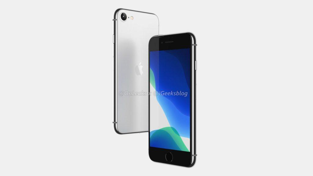 В Сети появились новые рендерные изображения смартфона iPhone SE 2