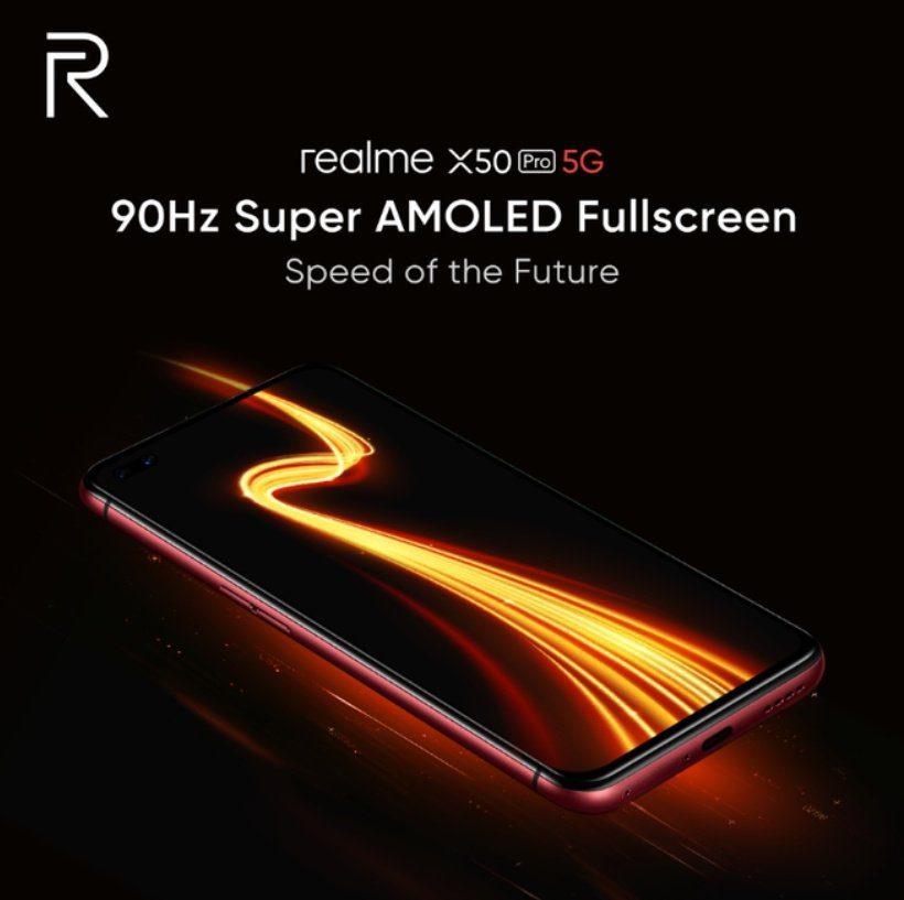 Realme X50 Pro 5G получит 90-герцовый Super AMOLED дисплей