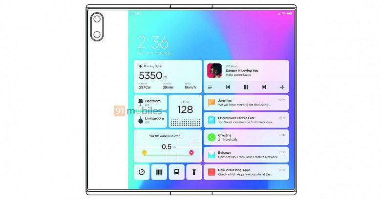 Xiaomi запатентовала новый гибкий смартфон Mi Mix Fold