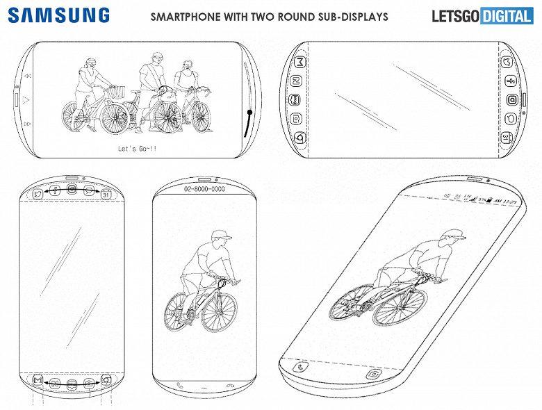 Samsung патентует первый смартфон с овальным дисплеем