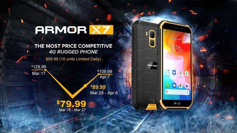 Смартфон Ulefone Armor X7 27 марта будет стоить 80 долларов