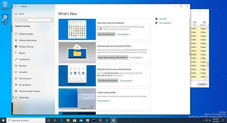 В Windows 10 нашли скрытый раздел с информацией о новых сервисах