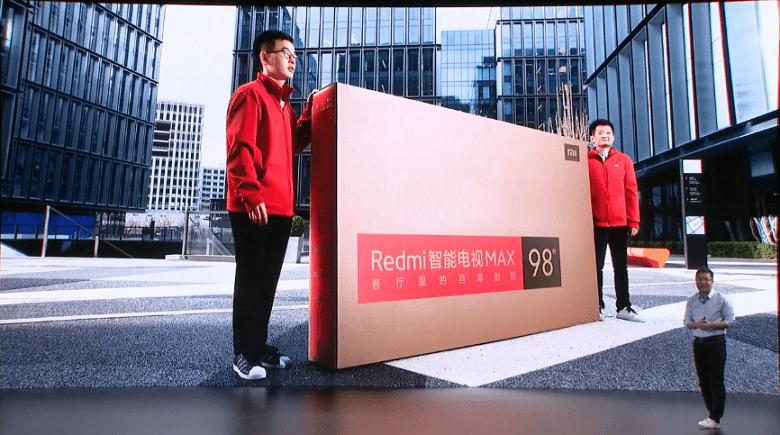 Redmi Max 98 увеличил продажи 98-дюймовых телевизоров в 10 раз