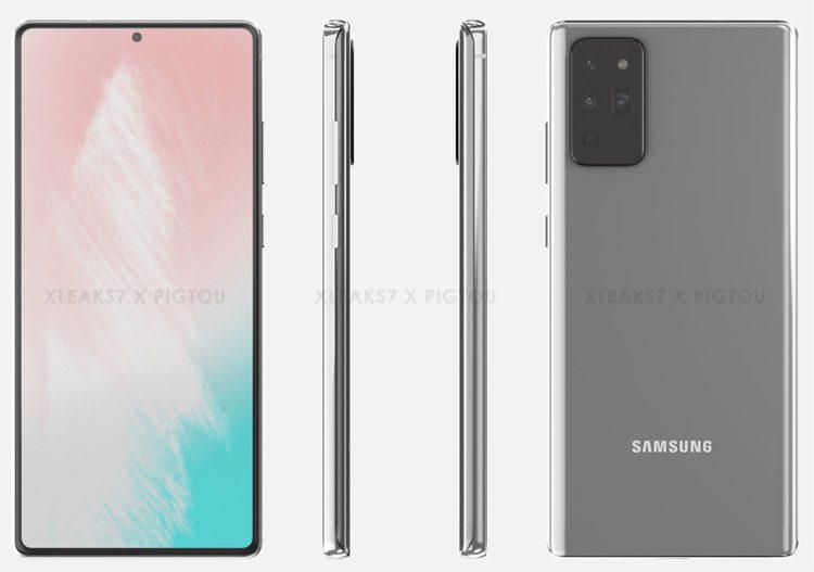 В Сети показали качественные рендеры Samsung Galaxy Note 20