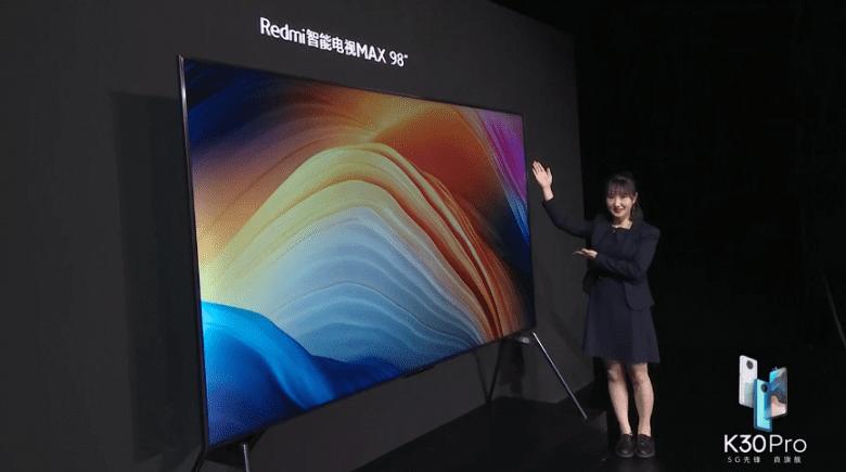 98-дюймовый телевизор Redmi Max 98 поставил рекорд продаж