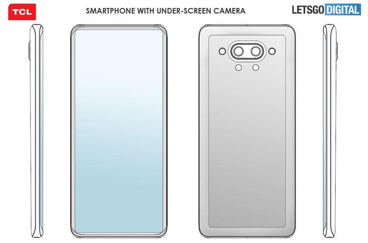 Патент раскрывает внешность смартфона TCL с подэкранной камерой
