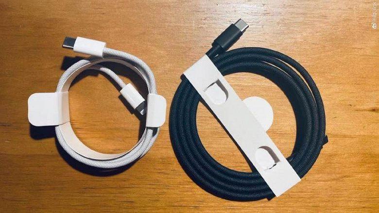 В комплекте с новым iPhone 12 может быть черный зарядный кабель
