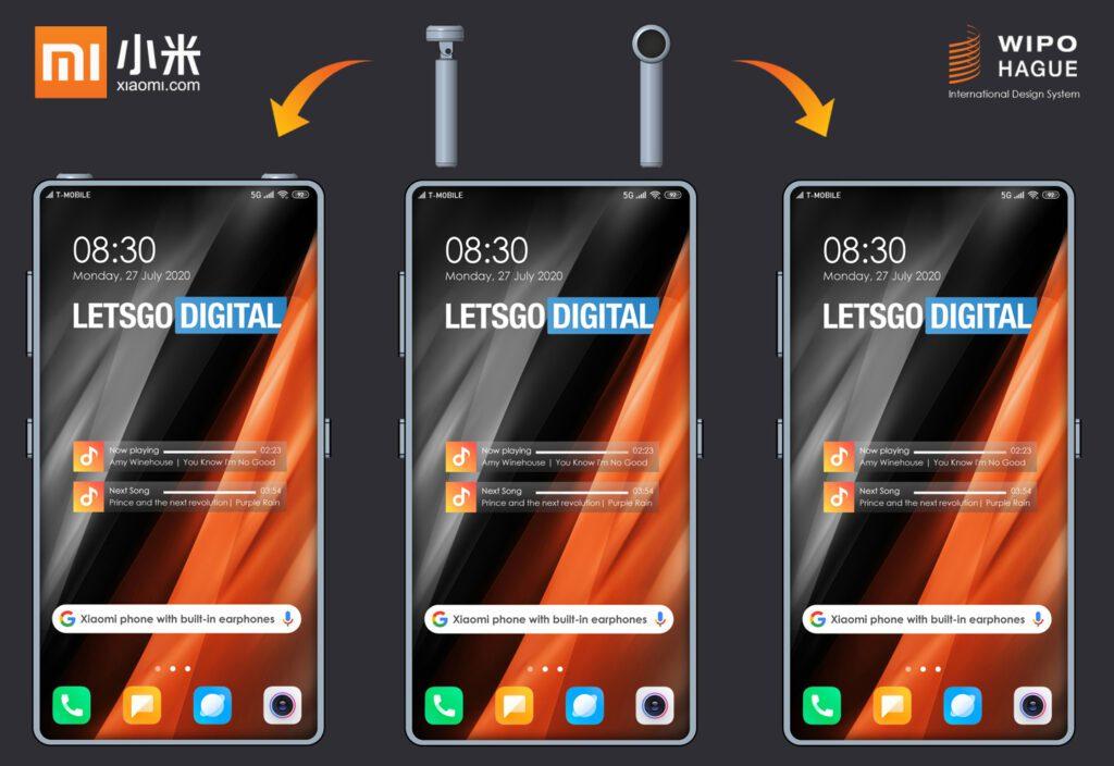 Xiaomi запатентовала смартфон с отсеком для беспроводных наушников