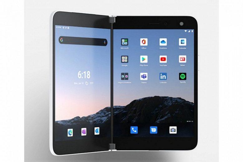 Microsoft представила уникальный смартфон с двумя экранами Surface Duo