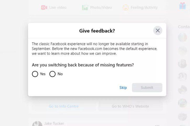 Старый веб-дизайн Facebook исчезнет в сентябре