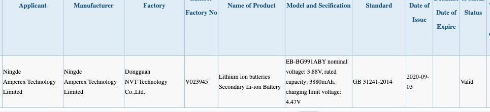 Samsung Galaxy S21 и S21 Plus с ёмким аккумулятором сертифицированы