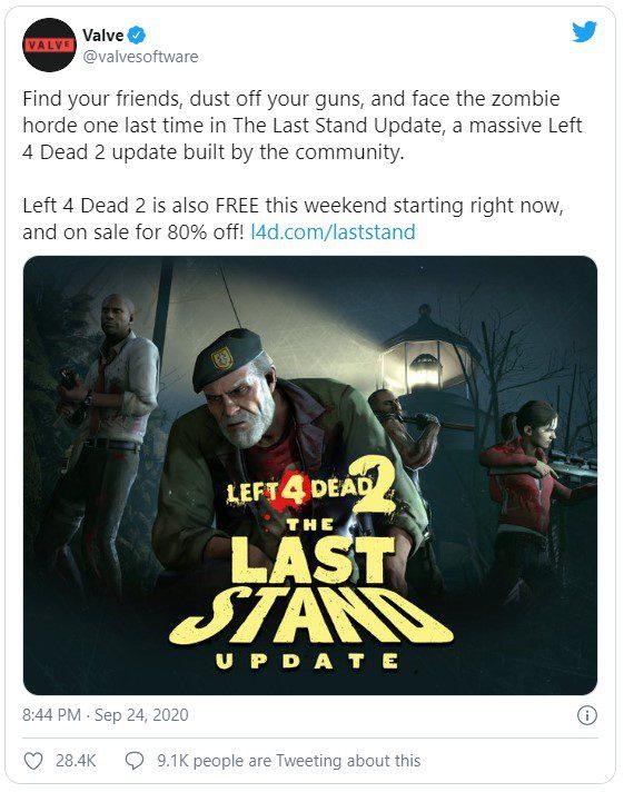 В Left 4 Dead 2 можно бесплатно играть через Steam