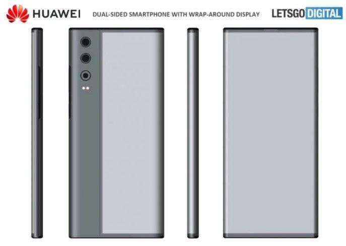 Huawei запатентовал смартфон с круговым дисплеем, похожим на Mi MIX Alpha
