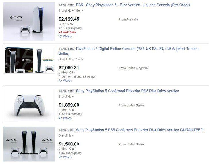 Стоимость PlayStation 5 в США взлетела до $2000
