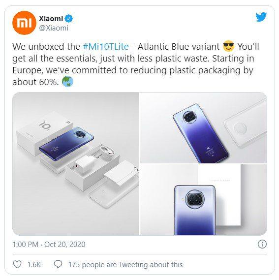 Xiaomi Mi 10T будет комплектоваться экологичной упаковкой с блоком питания