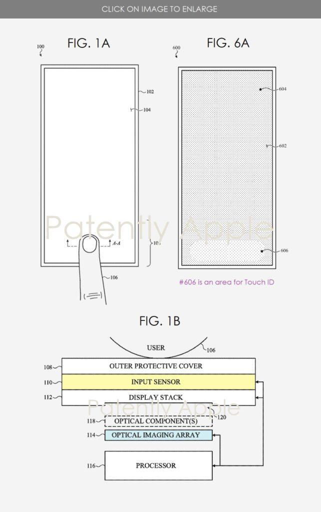 Apple запатентовала Touch ID нового поколения
