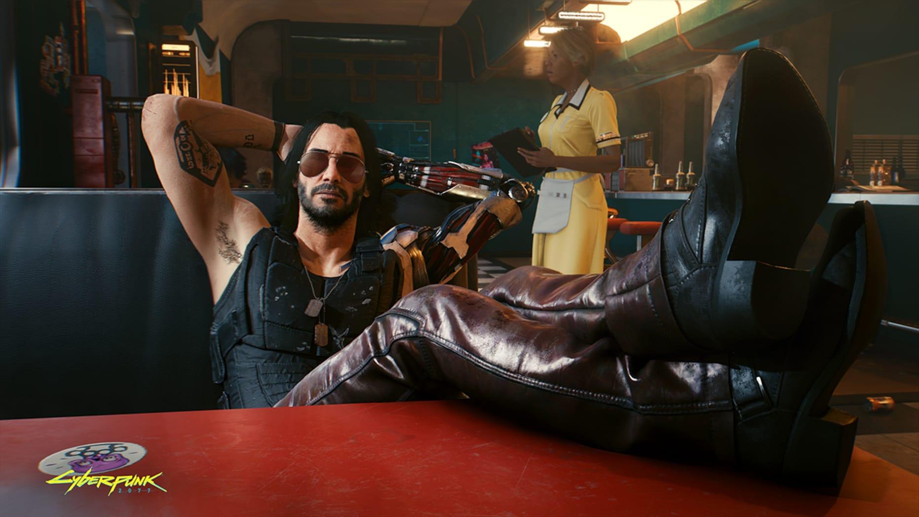 Киану Ривз играет главную роль в новой видеоигре Cyberpunk 2077