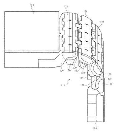Apple запатентовала уникальный шарнирный шарнир для складного iPhone