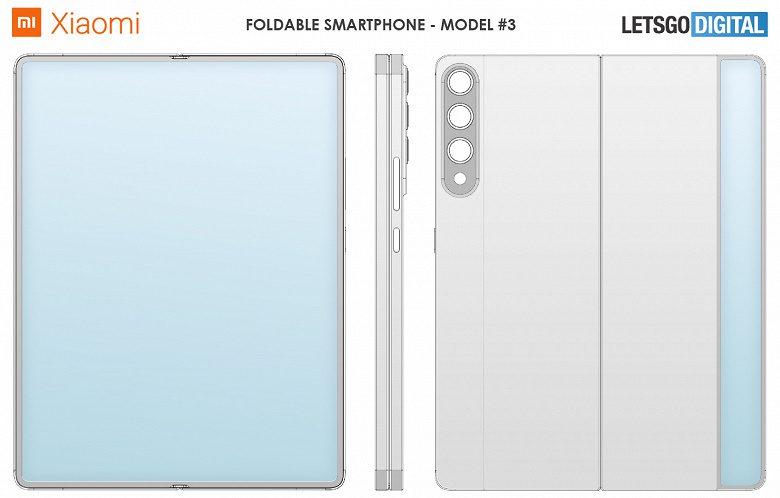 Компания Xiaomi получила патенты сразу на семь складных смартфонов