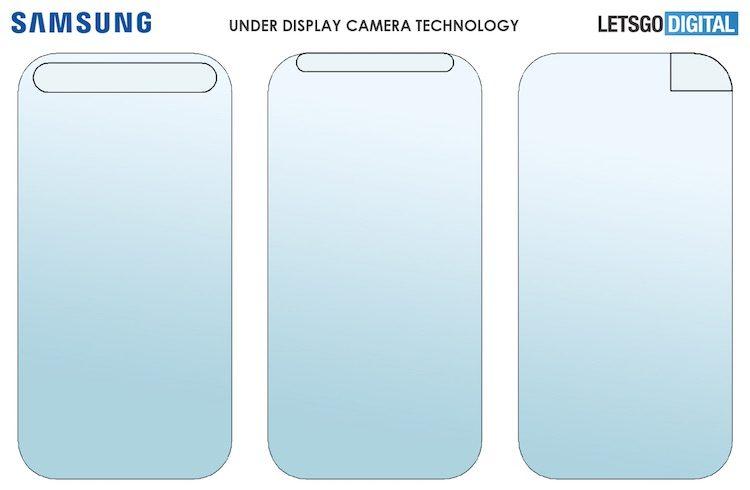 Samsung запатентовала подэкранную камеру для смартфонов