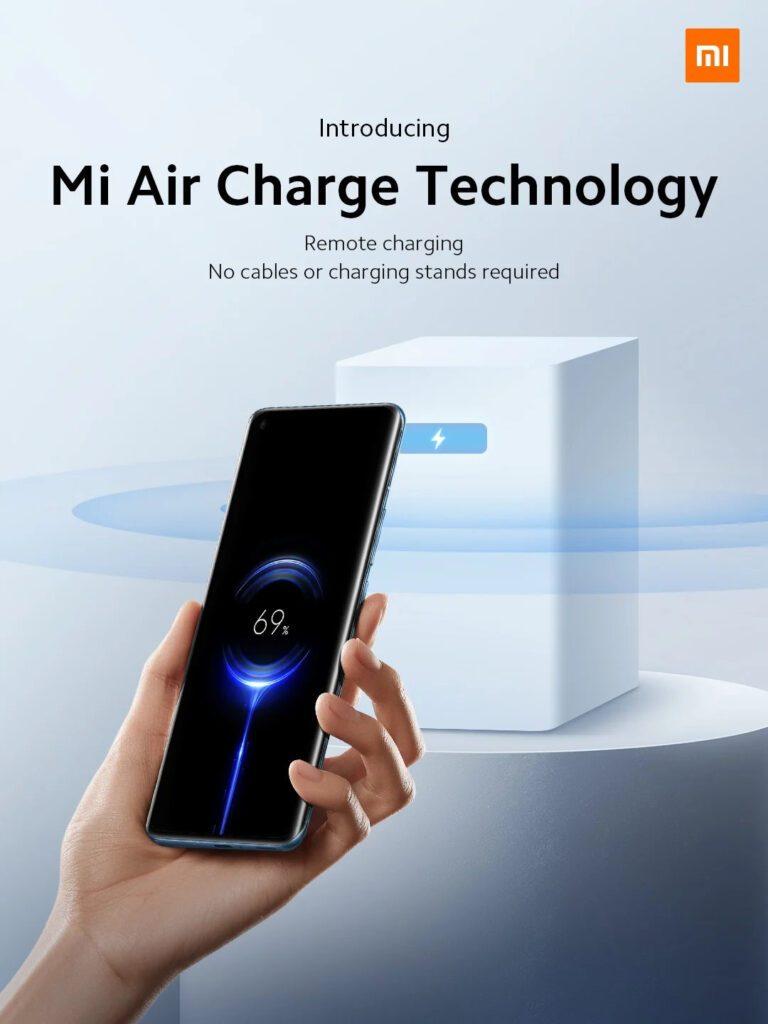 Xiaomi представила технологию бесконтактной зарядки смартфона Mi Air Charge