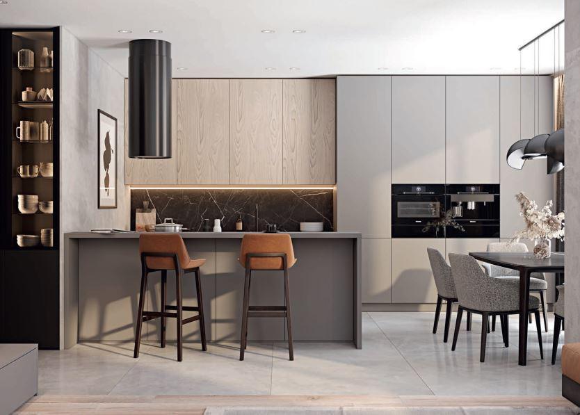 Обзор кухонных гарнитуров в современном стиле