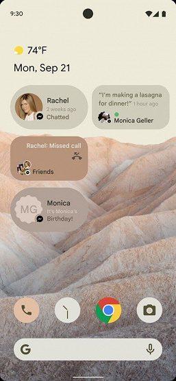 В Сети обнародовали первые скриншоты интерфейса Android 12