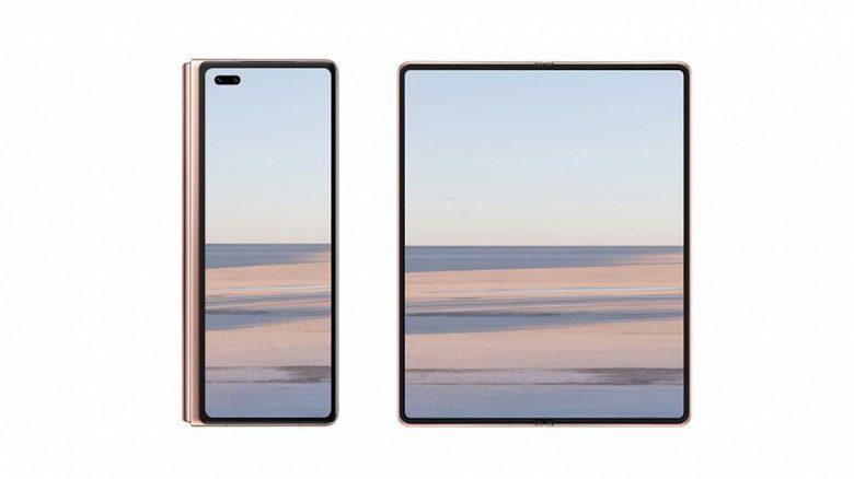 Раскладной смартфон Huawei Mate X2 показали на официальном рендере