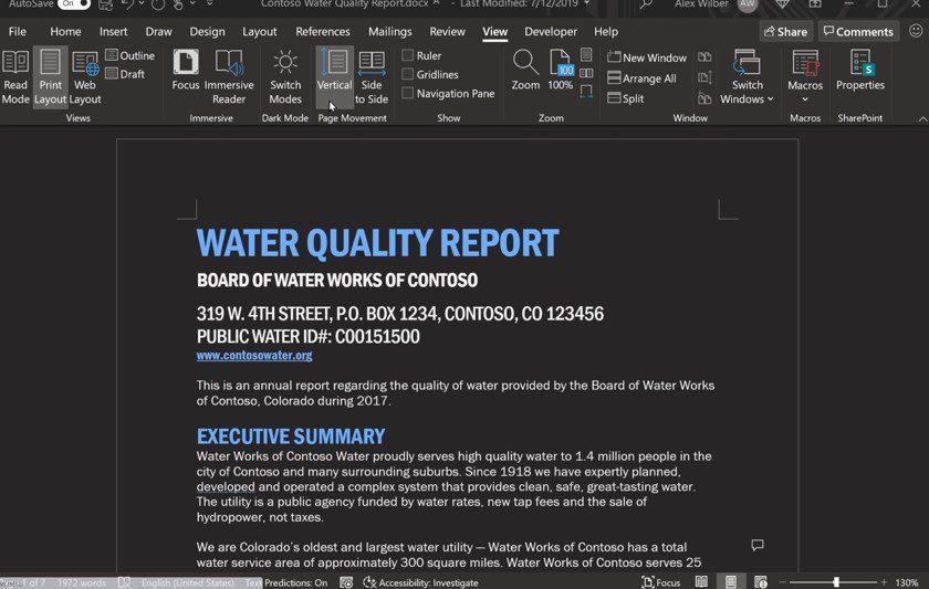 «Темный режим» в редакторе документов Microsoft Word стал еще темнее