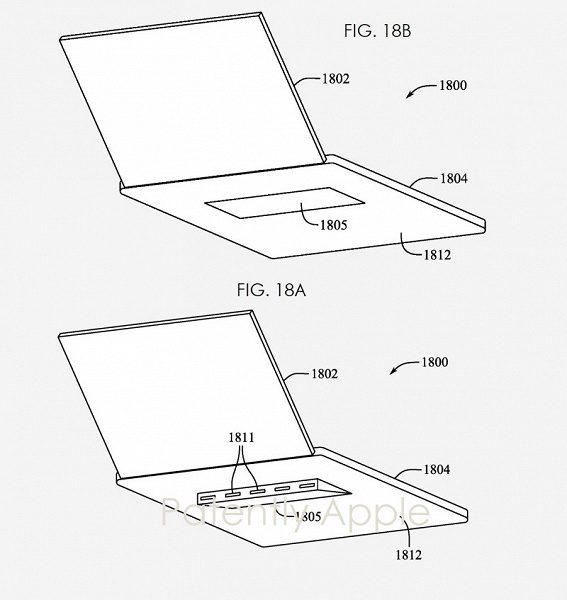 Компания Apple разработала выдвижную подставку для MacBook