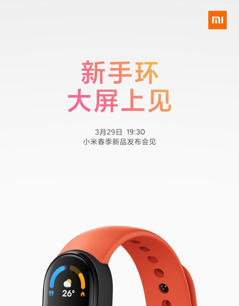 Бюджетный фитнес-браслет Xiaomi Mi Band 6 получит безрамочный экран