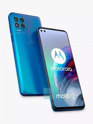 Новый смартфон Motorola G100 с Snapdragon 870 показали на рендерах