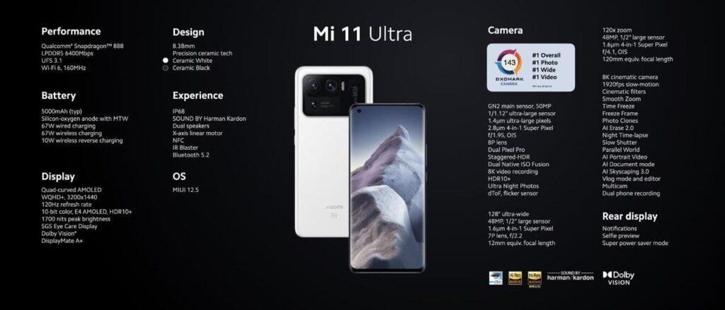 Xiaomi назвала европейскую цену на свой камерофон Mi 11 Ultra