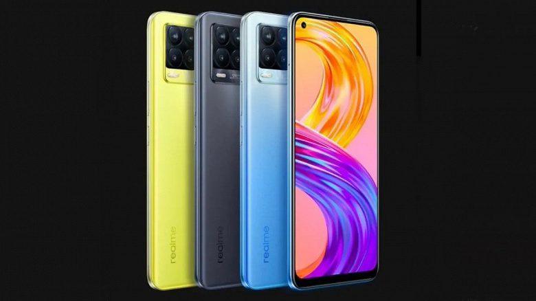 Официально представлены новые смартфоны Realme 8 и Realme 8 Pro