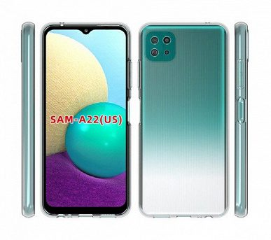 Производитель аксессуаров рассекретил дизайн нового Samsung Galaxy A22 с 5G