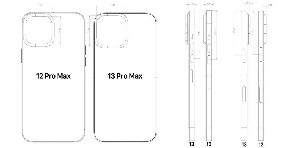 iPhone 13 Pro Max получит большую камеру и более толстый корпус