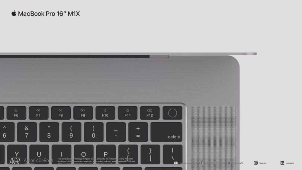 На рендерах представили дизайн нового 16-дюймового MacBook Pro 2021 года