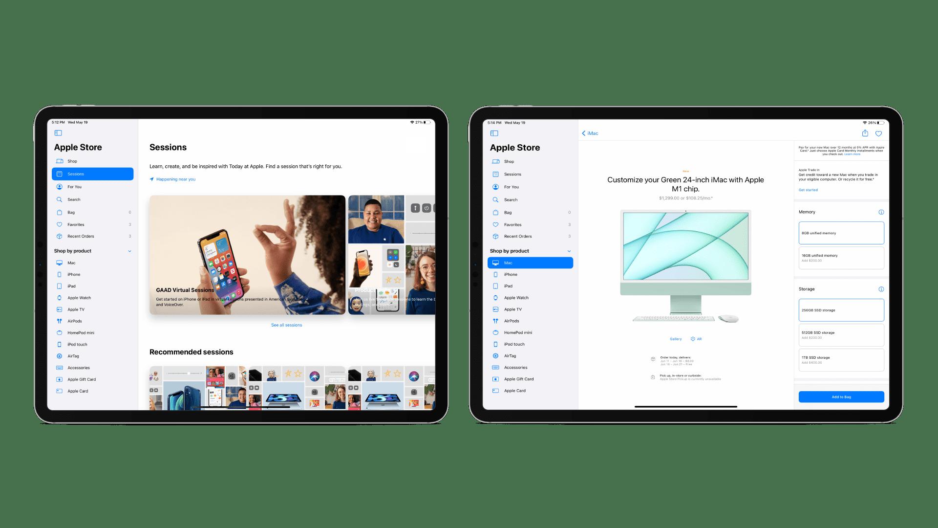 Apple представляет обновленное приложение Apple Store на iPad с боковой панелью и быстрым доступом к недавним заказам