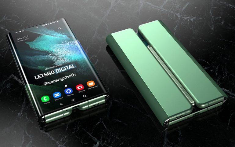 Запатентованная концепция Samsung Galaxy Z Fold Tab демонстрирует тройной дизайн